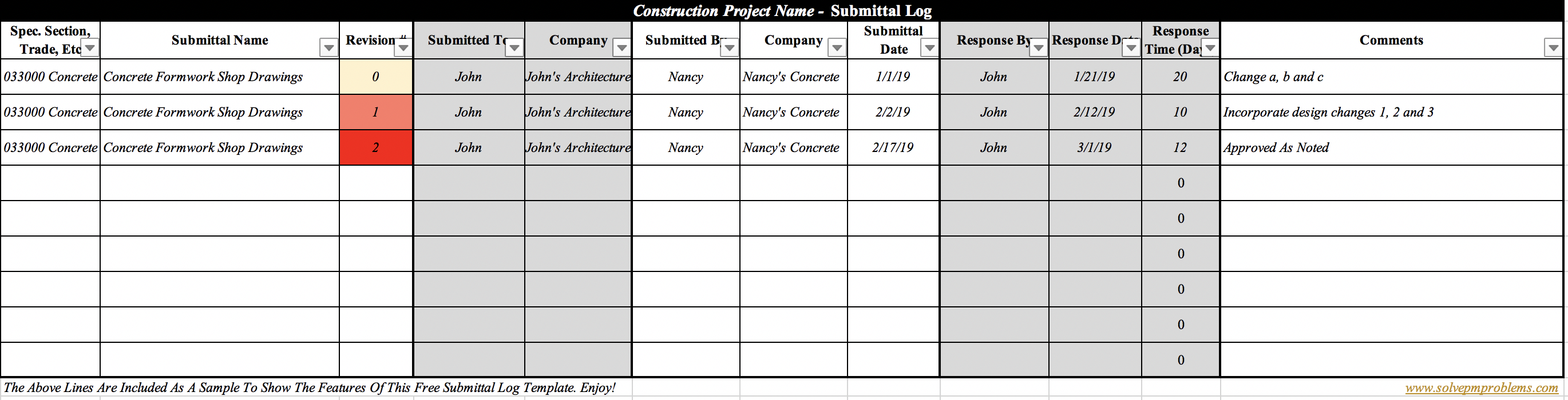 The Construction Submittal Log: 5 Best Practices (FREE Excel